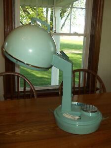 Vintage Lady Schick Aqua Blue Consolette Portable Hair Dryer Model 307~Works