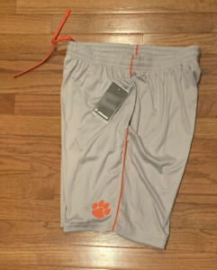 Clemson Tigers Men's Colosseum Training Lined Athletic Shorts NWT Large
