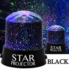 LED Star Projector Night Light Sky Star Moon Mood Lamp Kids Gift Bedroom UK