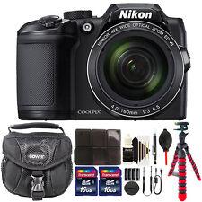 Nikon COOLPIX B500 16MP Built-in Wi-Fi Digital Camera Black + 32GB Accessory Kit