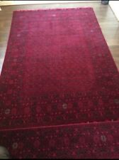 PAIR OF HAND KNITTED ORIENTAL AFGHAN RUGS 200/300 CM