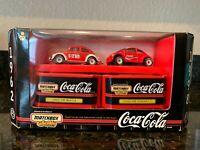 Matchbox Collectibles Coca Cola VW Beetle 2pk 1962 VW Beetle/1998 VW Concept 1