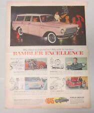 Rambler American Excellence Magazine Ad 1961 / Tareyton Cigarettes