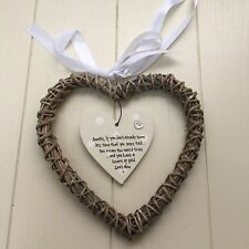 Auntie Aunty Or Great Aunt Shabby personalised Chic Gift Willow heart Gift