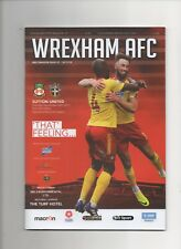 Wrexham v Sutton United 2017-2018