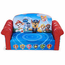 Marshmallow Furniture Comfy 2-in-1 Flip Open Couch Bed Kid Furniture, Paw Patrol