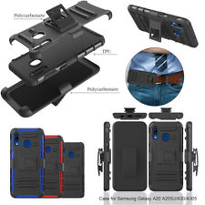 For Samsung Galaxy A20 A30 Shockproof Holster Armor Case Cover Belt Clip Socket