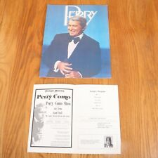 Perry Como Souvenir Concert Program 1980 Starlight Musicals Indianapolis