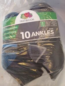 Fruit Of The Loom 10 Ankles small Socks Shoe size 4.5-8.5 Nwt