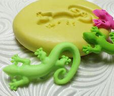 Silcone Resin Polymer Clay Fondant Push Mold Gecko 4732