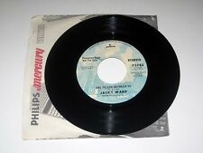 45RPM Jacky Ward SHE'LL THROW STONES AT YOU/1 PILLOW BETWEEN US Mercury PROMO NM