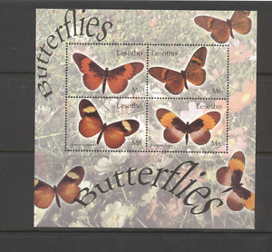 Lesotho 2004 Butterflies/Insects 4v shtlt (n12497)