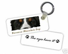 """Bernese Mountain Dog  """" The  Eyes Have It  """" Key  Chain"""