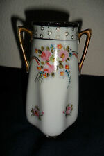 A NICE VICTORIAN? VASE L & CO NIPPON, BEAUTIFUL FLOWER PATTERN , 12 cm high