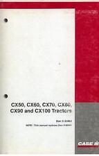 Case IH Tractor CX50 CX60 CX70 CX80 CX90 CX100 Operators Manual