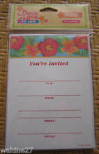 LUAU LOCO Tropical Floral Party Invitations - Boxed Set of 10