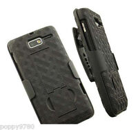 Verizon Shell Belt Clip Combo Case Stand for VZW Motorola Droid Razr M XT907 NEW