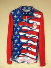 Primal Wear Team USA Long Sleeved Cycling Jersey Size Medium NWT