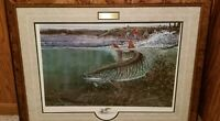 Scott Zoellick Collection of 4 LE Muskie Prints w/ original color remarques