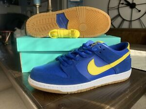 "Nike SB Zoom Dunk Low Pro ""Boca Junior"" Mens Size 12 854866-471 Boca Jrs"