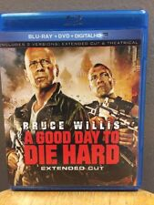 A Good Day to Die Hard (Blu-ray + DVD, 2013, 2-Disc Set, Extended Cut) Willis