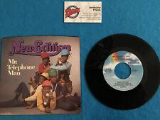 Lot-2 NEW EDITION Mr. Telephone Man+Instrumental; Lost In Love 45rpm Vinyl VG++