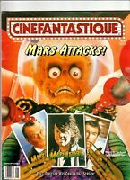 CINEFANTASTIQUE Magazine v.28#7 MARS ATTACKS Topps TIM BURTON Wes Craven 1996