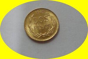 Bullion Yellow Gold Mexican 2/Dos Peso Coin