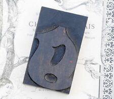 "letter: g  blackletter wood type 3.54"" woodtype font letterpress printing block"