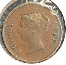 Straits Settlements  1845  1/4 cent  KM 1