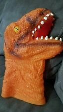 T-Rex Dinosaur Head Realistic Soft Rubber Animal Hand Puppet Toy EXC Awesome