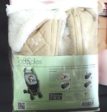 NEW TADPOLES STROLLER & CARSEAT COVER 100% PLUSH MICROSHERPA LINING-QUILT OUTER