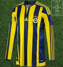 Fenerbahce Home Shirt - adidas Turkish Football Jersey - Long Sleeved -All Sizes