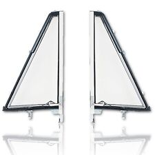 66-67-68-69-70-71-72-77 Ford Bronco Vent Window Clear Glass Frame Assembly Pair