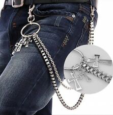 US Men Hip Hop Gothic Rock Alloy Metal Key Chain Pants Trouser Jean Wallet Chain