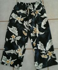 Island Traders Cropped Pants Womens SizeS Rayon Washable Pockets Draw StringCool