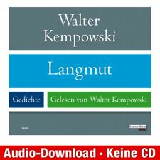 Hörbuch-Download (MP3) ★ Walter Kempowski: Langmut