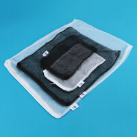 5~20pc Nylon Mesh Aquarium Fish Tank Pond Filter Supplies Media Zip Net Bag 5pc+