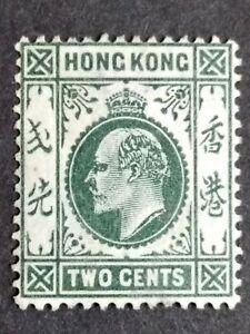 1904 Hong Kong King Edward VII Wmk MCCA 2c Gray Green - 1v MNG Stamp