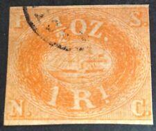 Peru 1857 1/2 oz Orange red boat Stamp vfu