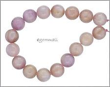 17 Pink Kunzite Round Beads ap. 12mm 7.8' #85401