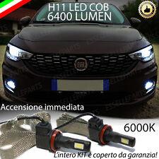 KIT FULL LED FIAT TIPO SW LAMPADE H11 FENDINEBBIA CANBUS 6400 LUMEN 6000K