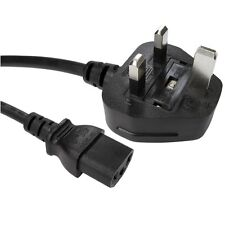 5m Long IEC Kettle Lead Power Cable 3 Pin UK Plug PC Monitor C13 Cord