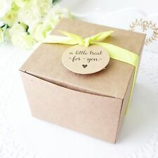 100x Cake/Cupcake Box 10cm Party Boxes Wedding Cookie Box Baby Shower Favour