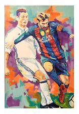 Messi  paper print 18x12 Original art made by Xilberto