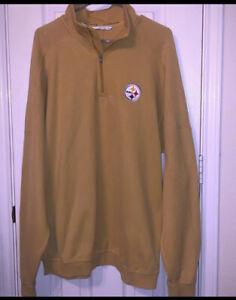 Cutter & Buck Pittsburgh Steelers Signature Co. Pima Cotton Half Zip Sweater XL