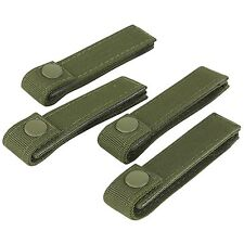 "New CONDOR 4 Pack OD GREEN 4"" MOLLE MOD Tactical Modular Web Straps Gear #223"