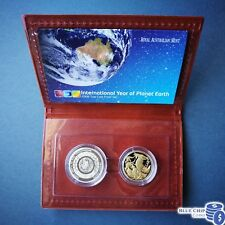 2008 INTERNATIONAL YEAR OF THE PLANET EARTH 2 COIN PROOF SET