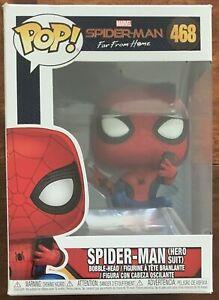 Spider-Man (Hero Suit) Funko Pop Vinyl #468 Spider-Man Far From Home Marvel New