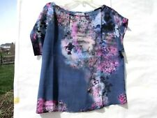 NWOT The Odells Silk Floral Print Top Sz S, M